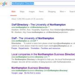 Listing in Google for the Northampton Business Directory