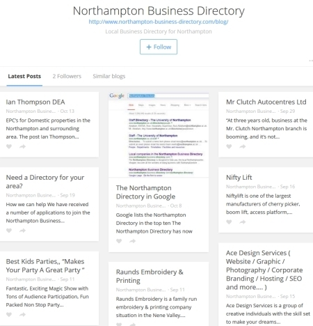 Free marketing from the Northampton Business Directory